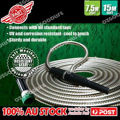 As Seen On TV Yard Garden Car Wash  metallic power hose Stainless Steel 15/7.5m