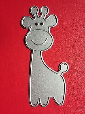 NEW• SMILING BABY GIRAFFE Zoo Animal DIE For Cuttlebug Or Sizzix