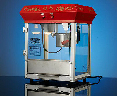 CE 16 OZ Commercial Bar Style Popcorn Popper Machine w heat preservation