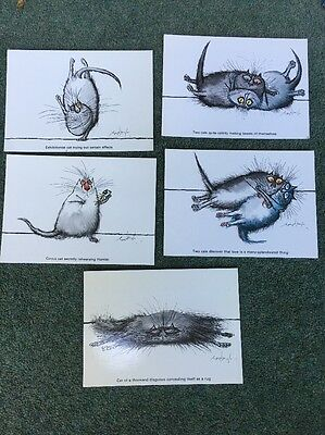 Vintage Postcards Ronald Searle Camden Graphics  Cat 1970's? 1980's? 5 Cards