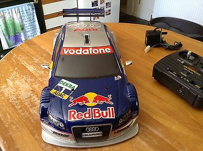 Tamiya Audi A4 DTM 05 Finished Body Complete Ready To Use Red Bull