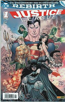 DC Comics:  DC Rebirth: JUSTICE LEAGUE Band 1 Topzustand 0-1, Mai 2017
