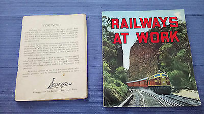 2 Fascinating  Books On Railways From 1940's/50's 'history ' & Railways At Work