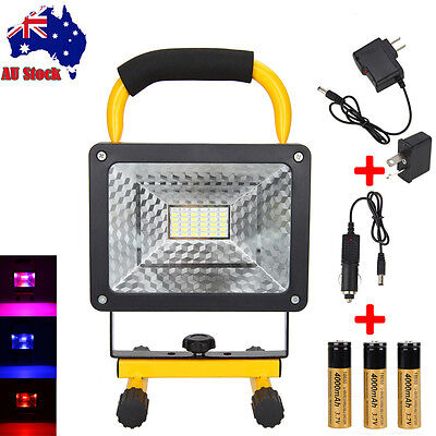 50W 36 LED Portable Rechargeable Flood Light Spot Work Camping Fishing 18650Lamp
