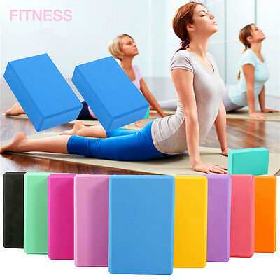 2 x Foam Exercise Yoga Block Fitness/Stretching Aid Brick Gym/Pilates