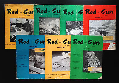Lot of 7 Rod and Gun Magazines - 1955 - 1957 - 1958
