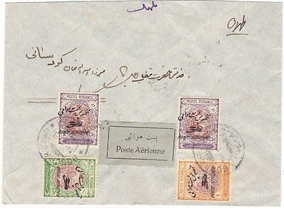 Airmail cover, label, Persia inland