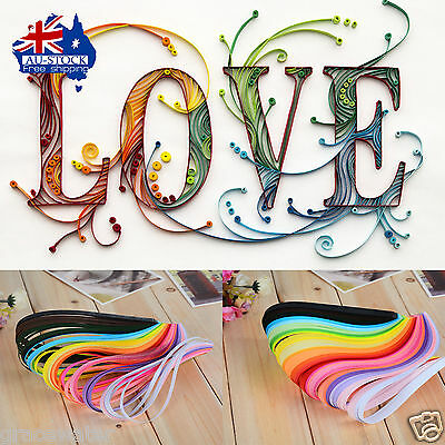 260pc/bag Quilling Paper Strips Colorful Mixed Origami DIY Paper Hand Craft DIY