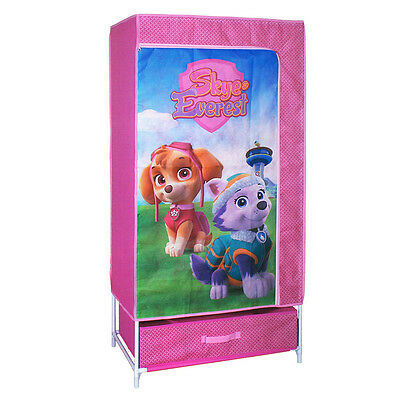 Pink Kid Canvas Fabric Pop-Up Wardrobe Storage Solution Disney Marvel Paw Patrol