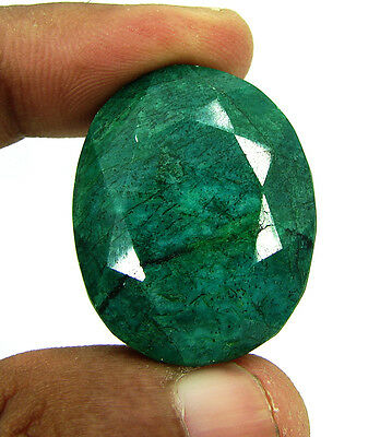 Certified 92.50 Ct Natural Earth Mined Oval Emerald Loose Gemstone - 113236
