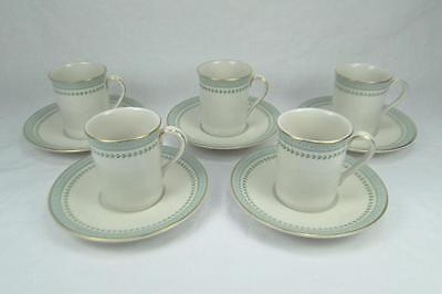 Royal Doulton Berkshire 5 Coffee Cups and Saucers  TC1021