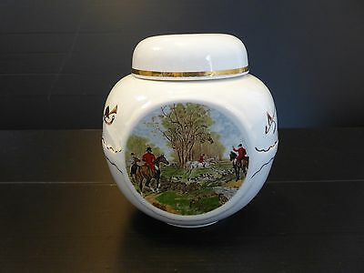Retro R. Twining & Co. by Burgess & Leigh Hunting Scene Ginger Jar - England