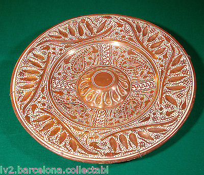 Antique Big Ceramics Plate From Manises With Metalic Gleams