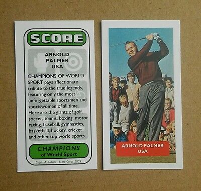 Golf - USA - ARNOLD PALMER - Score UK trade card