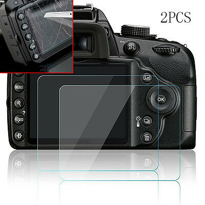 Clear Tempered Glass Film Camera LCD Screen Protector Guard fr Nikon D3200 D3300