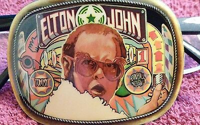 Elton John, Pacifica Tommy, Pinball Wizard, Belt Buckle 1976 Minty Condition!!