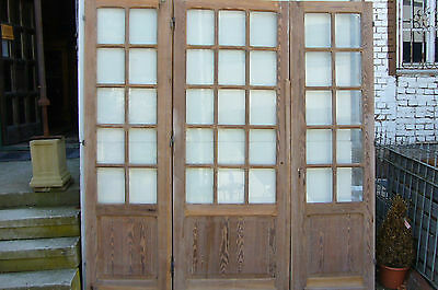 Pitch Pine Doors Balcony Cabinet France Doors Doors windfangtüre Room Divider