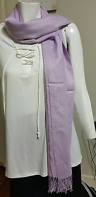 ladies scarf lavender colour. BRAND NEW CASHMERE LANA