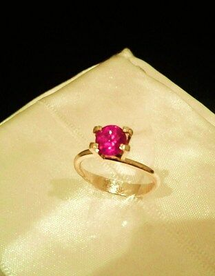 Natural Ruby - Round Brilliant 1.21cts - FREE International Postage.