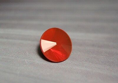 2.85ct Mexican Fire Opal - Cherry Red Flawless Custom Cut Faceted Gem