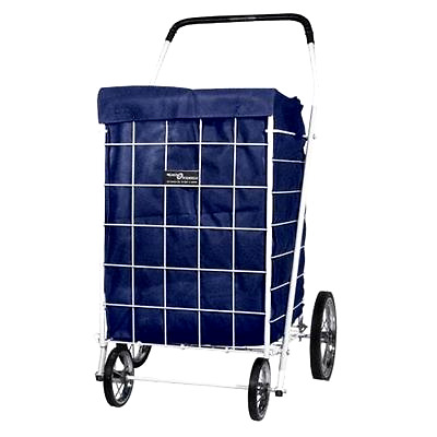 Grocery Laundry Bag Shopping Cart Liner Folding Jumbo Basket Rolling Utility Blu