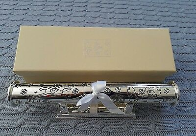Silver birth certificate holder, brand new, boxed, christening gift present