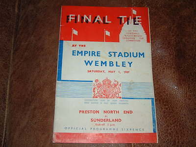 1937 FA Cup Final Preston North End v Sunderland PNE VGC