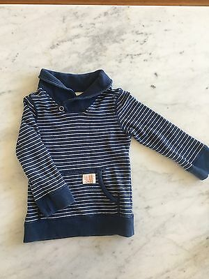 Country Road Navy Striped Boys Jumper SZ 3