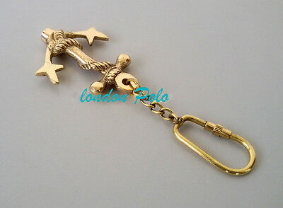 vintage antique look brass key chain expert quality punk bikers gift