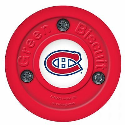 Green Biscuit NHL Montreal Canadiens Logo Off Ice Training Puck Hokejam.lv