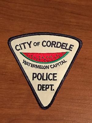 Defunct City of Cordele Georgia Watermelon Capital Old Style Police Patch