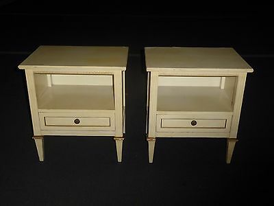 Pair Vintage DREXEL French Provincial NIGHTSTANDS Country Cottage