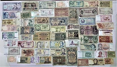 World Banknote collection. 60 Mixed. Many Old.All my collections Different #41