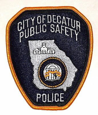 DECATUR GEORGIA GA Police Sheriff Patch PUBLIC SAFETY STATE SEAL COLUMNS BANNER