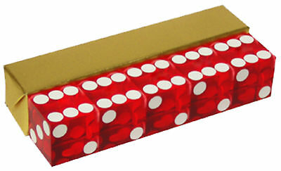 Red Casino Professhional Dice Craps 19mm Grade Set of 5 Razor Edge Stick