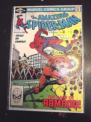 Amazing Spider-Man #221 Crisis on Campus Rage of Ramrod FN