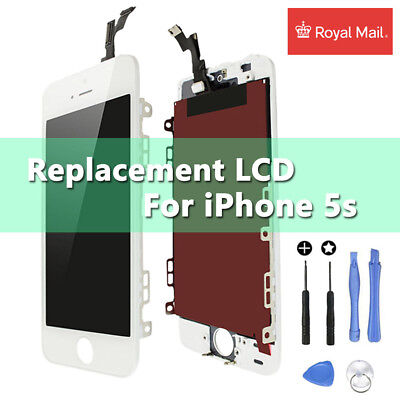 For iPhone 5s White LCD Touch Screen Display Digitizer Assembly Replacement UK