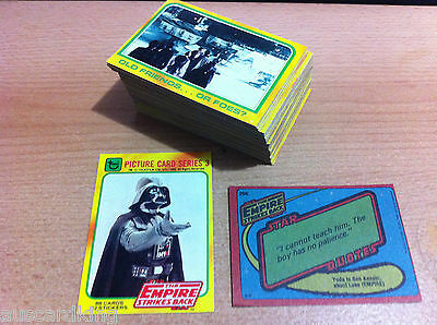 Star Wars - Empire Strikes (ESB) - Series 3 - Complete Card Set (88) - 1980 - NM