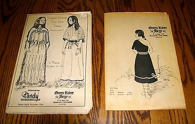 Lot of 2 Green River Forge Patterns, Indian Woman's Dress and Zuni Dress