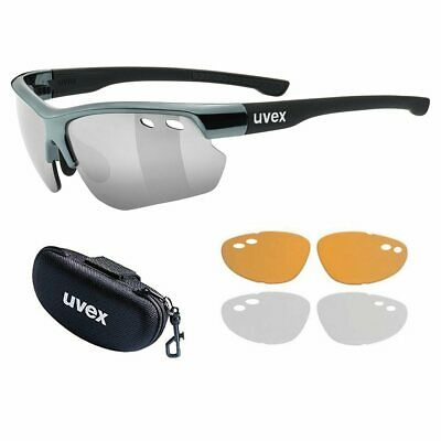 Uvex Sportstyle 115 Sports Interchangeable Cycling Sunglasses (3 Lens + Case)