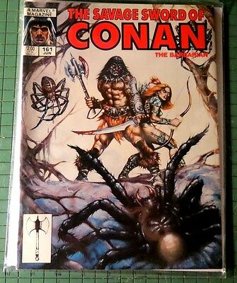Savage Sword of Conan #161 Copper Age Mag Format Bin 1