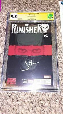 Punisher #1 2016 CGC 9.8 SS Signed Actor Jon Bernthal The Walking Dead Netflix