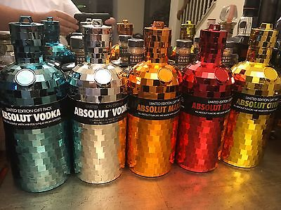 Absolut Vodka 5 Rare Skins Bling Disco Rock All 750Ml Bottle