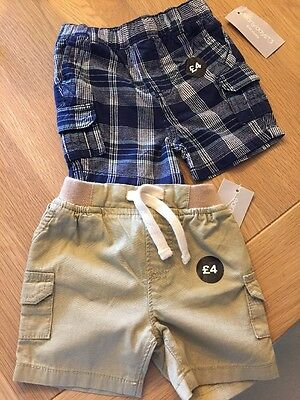 Baby Boys Shorts 3-6months X 2