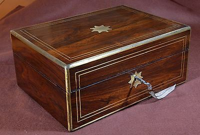 Magnificent antique box decorated with brass marquetry. R1620309