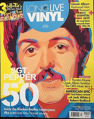 Long Live Vinyl Magazine July 2017 Issue 4 (Sgt. Pepper At 50) Cover 3...new