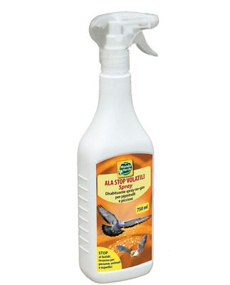 Ala Stop Spray Ml. 750 Disabituante Anti Piccioni Pipistrelli Volatili E Colombi