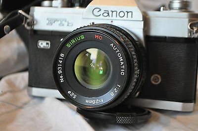 CANON FTb 35MM SLR CAMERA WITH CASE NEW LIGHT SEALS FITTED