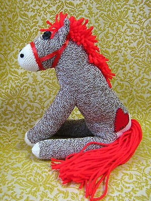 Rockford Red Heel Sock Monkey Personalized Little Red Pony /  Horse!