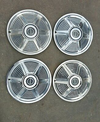 4 X Ford Mustang Hubcaps 1965 1966 1967